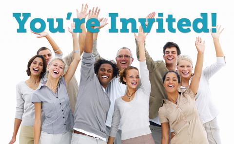 Group of People Raising Hands to Invitation